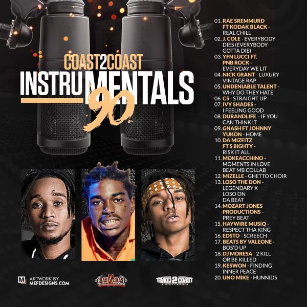 Coast 2 Coast Instrumentals Vol  90